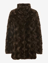 Vmcurl High Neck Faux Fur Jacket