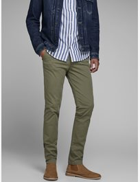 Smal chinos med stretch MARCO BOWIE SA OLIVE NIGHT