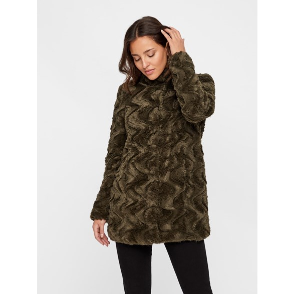 Vmcurl High Neck Faux Fur Jacket Col Kl Jacka i fuskpäls