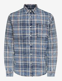 Rutig skjorta Onsstorm Check Shirt Acid Wash