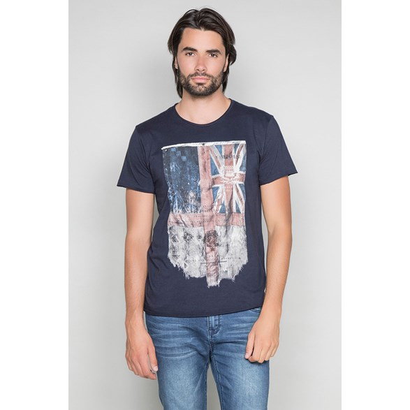 T-shirt med flaggprint Flagy T-Shirt