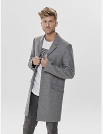 Onsjulian Solid Wool Coat Ullrock