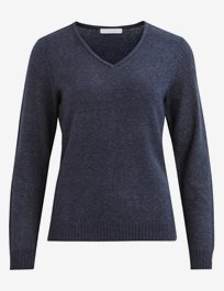 Viril V-Neck L/S Knit Top Stickad v-halsad tröja