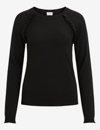 Vilesly L/S Frill Knit Top